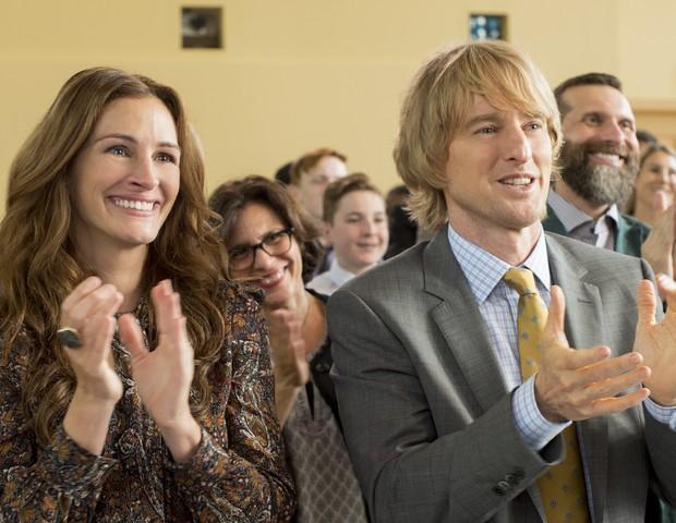 No filme, Julia Roberts e Owen Wilson dão vida ao casal Isabel e Natan, pais de Auggie Pullman, interpretado por Jacob Tremblay (Foto: Divulgação)