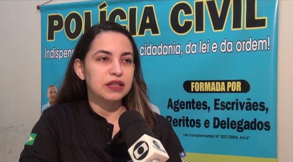 Delegada Nayana Paz, de Floriano.  — Foto: Reprodução/TV Clube
