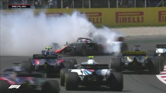 Grosjean é punido por lambança na 1ª volta; Hulkenberg e Gasly se irritam