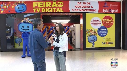 A dez dias do fim do sinal analógico, Feirão Digital oferece aparelhos a preços acessíveis