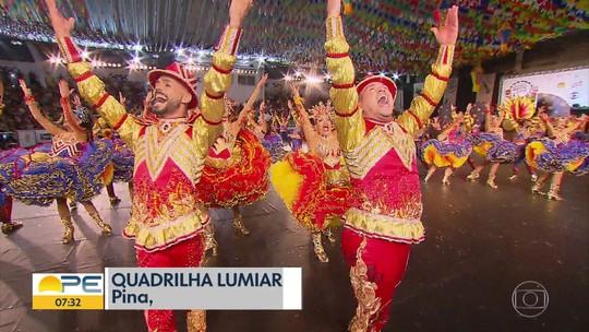 Seis grupos se apresentam no último dia de seletivas do Festival de Quadrilhas Juninas da Globo