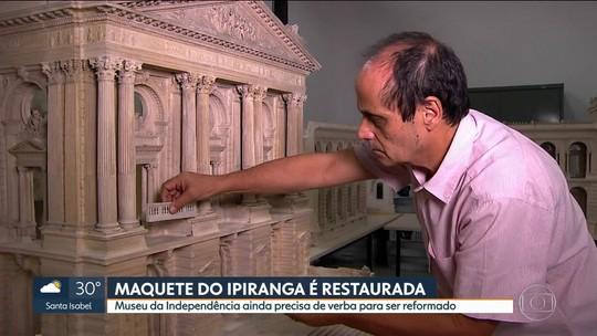 Maquete do Museu do Ipiranga passa por restauração