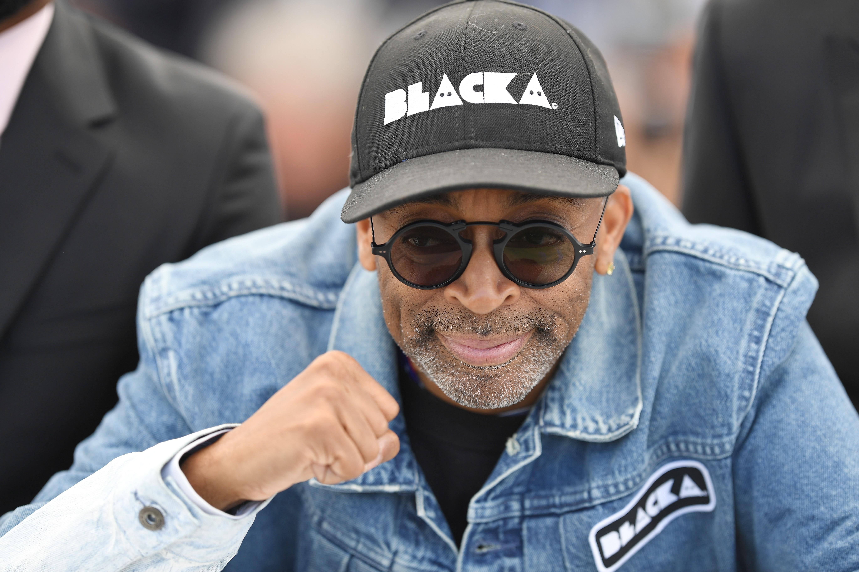 O diretor Spike Lee durante a apresentação e coletiva de seu filme BlacKKKlansman no Festival de Cannes (Foto: Getty Images / Pascal Le Segretain)