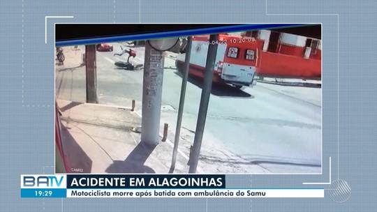 VÍDEO: Jovem morre após motocicleta ser atingida por ambulância do Samu na Bahia