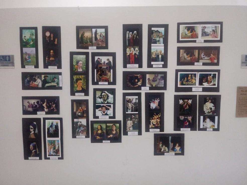 -  Releituras de quadros de Da Vinci e Caravaggio, expostas no espaço GTO na Câmara Municipal, viraram polêmica na semana passada  Foto: Matheus Garrôch