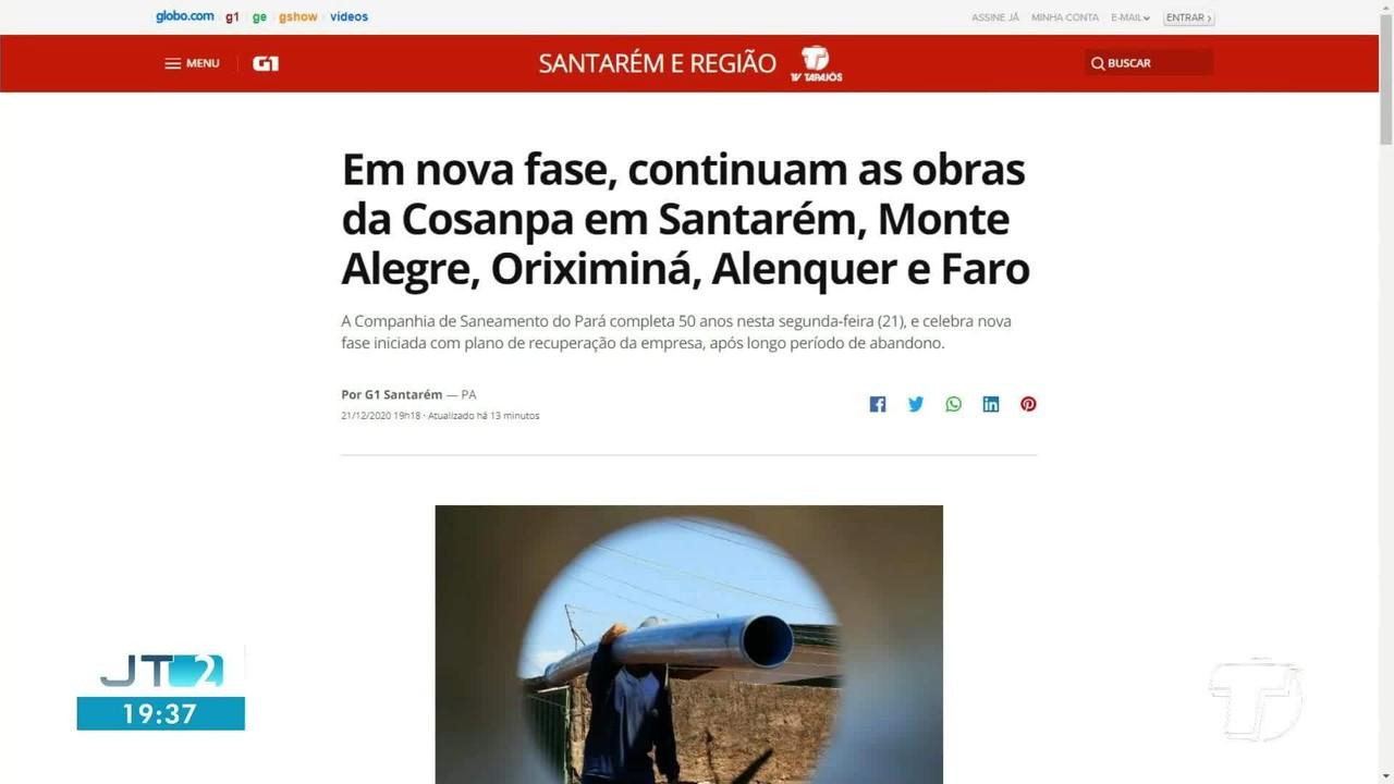 Confira as notícias em destaque no G1 e Ge Santarém e região