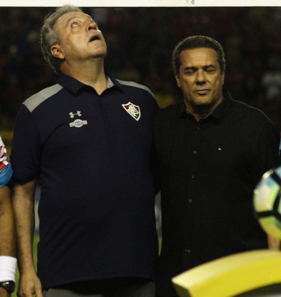 Abel busca vencer Luxa para se dar mais um passo rumo ao título do Brasileirão  — Foto: Nelson Perez / FluminenseFC