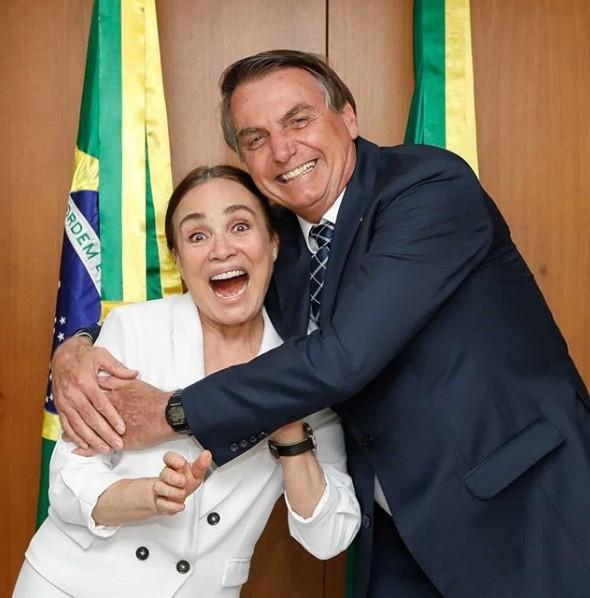 Regina Duarte teve encontro com o presidente Jair Bolsonaro
