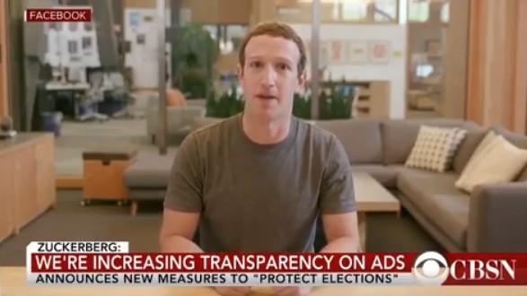 Foto do vídeo de Mark Zuckerberg produzido com tecnologia deepfake (Foto: Reprodução)