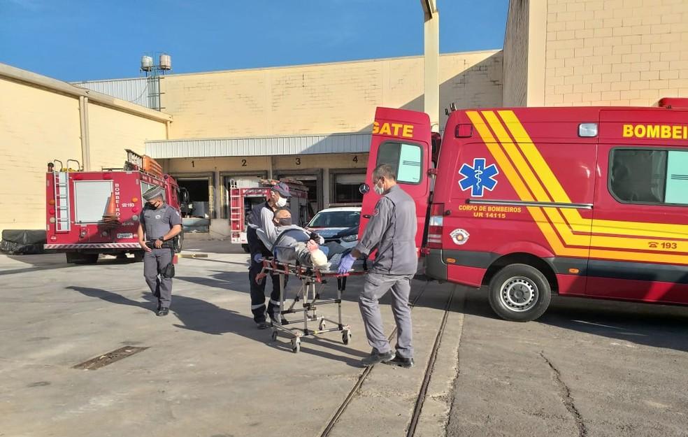 Trabalhadores morreram vítimas de desabamento em obra em hipermercado, em Presidente Prudente — Foto: Heloise Hamada/G1
