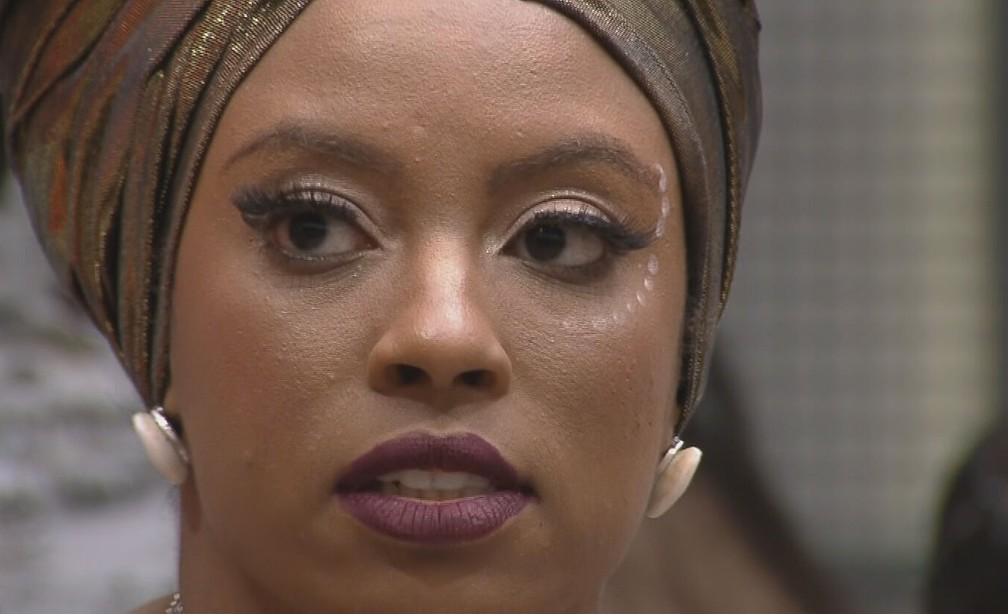 Lumena é eliminada do BBB21 — Foto: Reprodução / Globo