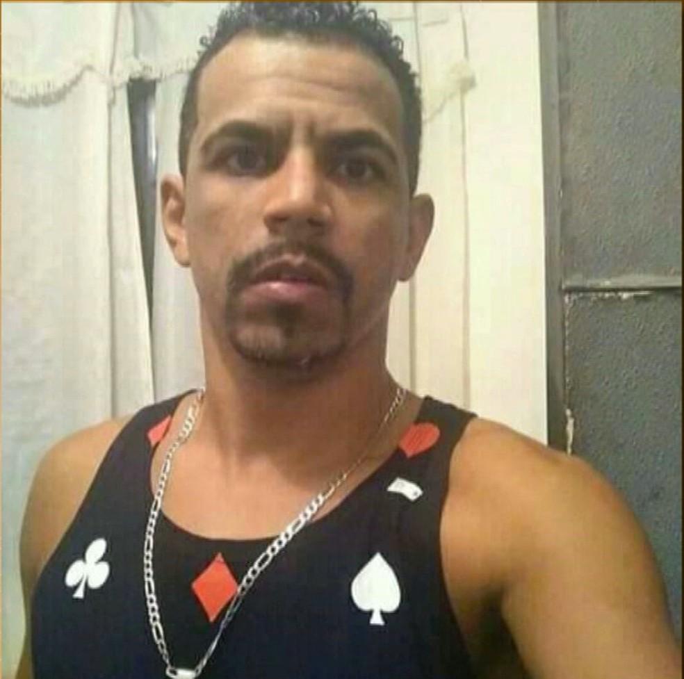 Pedreiro, Almir Vicente da Silva, vítima de golpe de punhal. — Foto: Reprodução/TV Paraíba