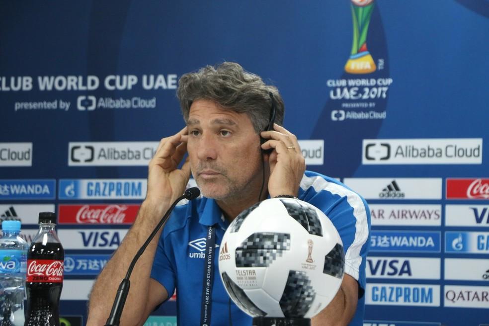 Renato em sua última entrevista antes da decisão (Foto: Eduardo Moura/GloboEsporte.com)