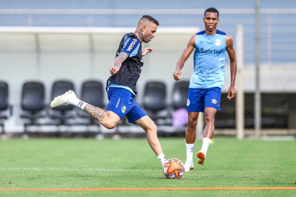 Luan, atacante do Grêmio — Foto: Lucas Uebel / Grêmio