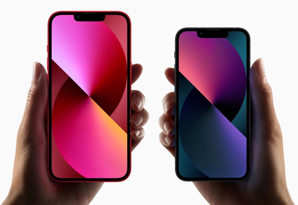 iPhone 13 e iPhone 13 Mini — Foto: Divulgação/Apple