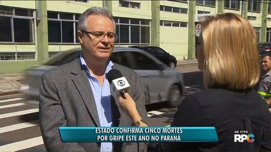 Saúde registra 5ª morte por gripe em 2018 no Paraná