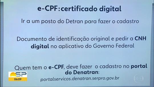 CNH digital é lançada de graça em São Paulo