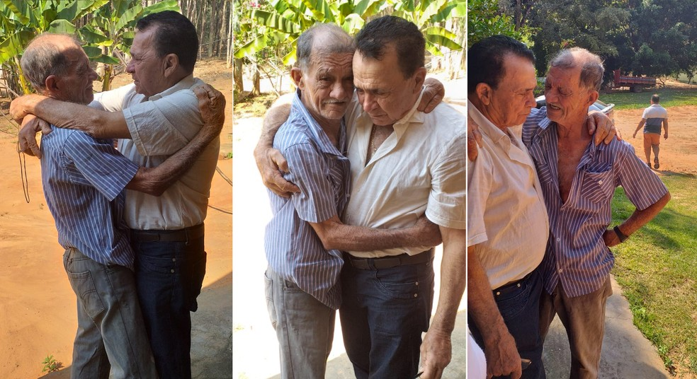 Além dos familiares de Campinas e Adamantina, seu Lau reencontrou um irmão de Pacaembu — Foto: Arquivo pessoal