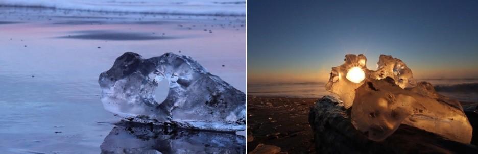 O espetáculo da natureza atrai grande número de pessoas às praias no inverno