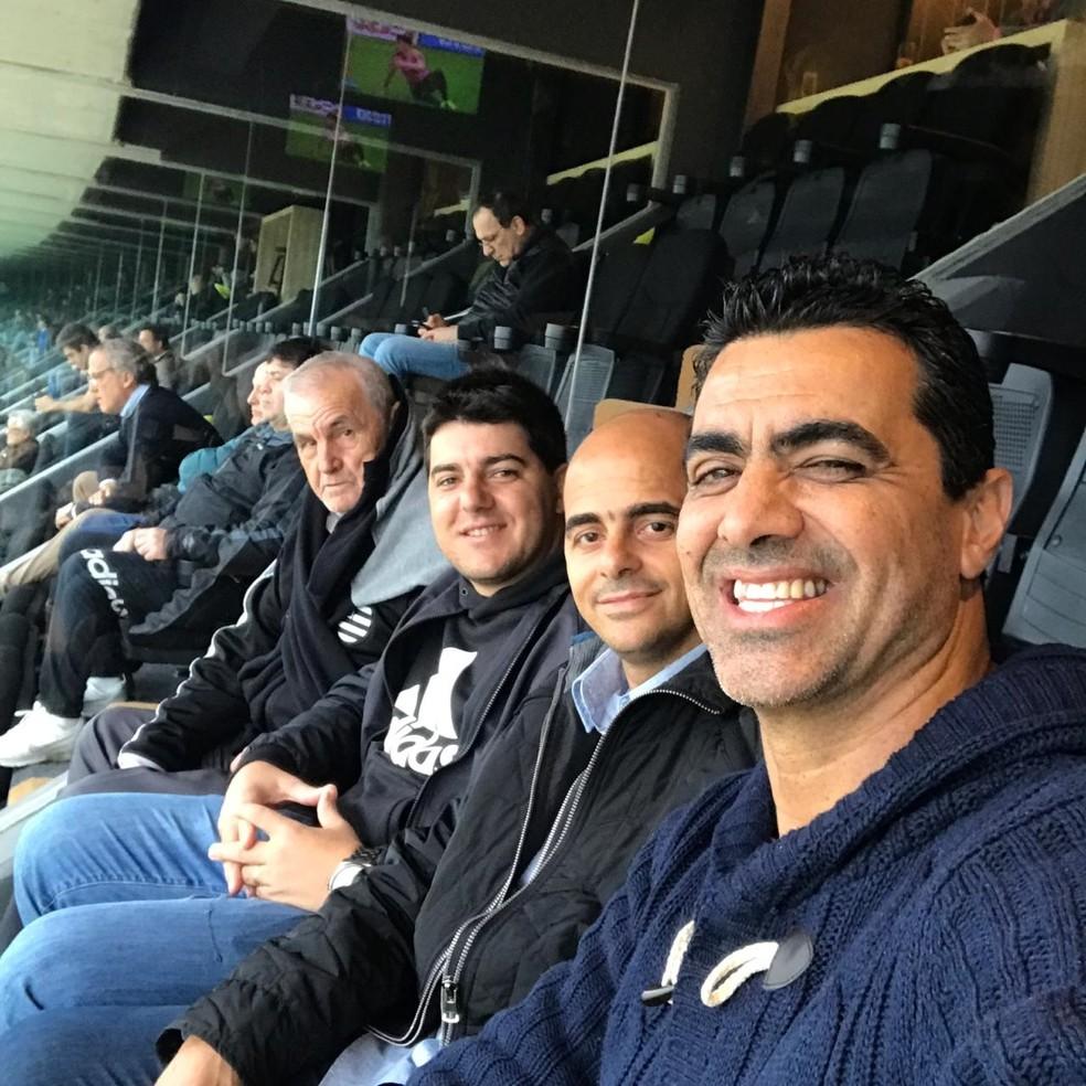 Grupo conheceu estádios durante a visita a Montevidéu  — Foto: Fábio Mineiro/Arquivo pessoal