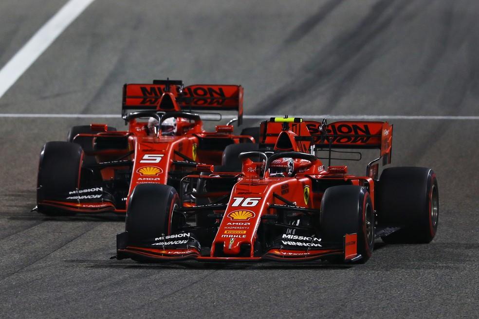 Em 2019, Ferrari levou muita vantagem sobre as adversárias nas retas — Foto: Getty Images
