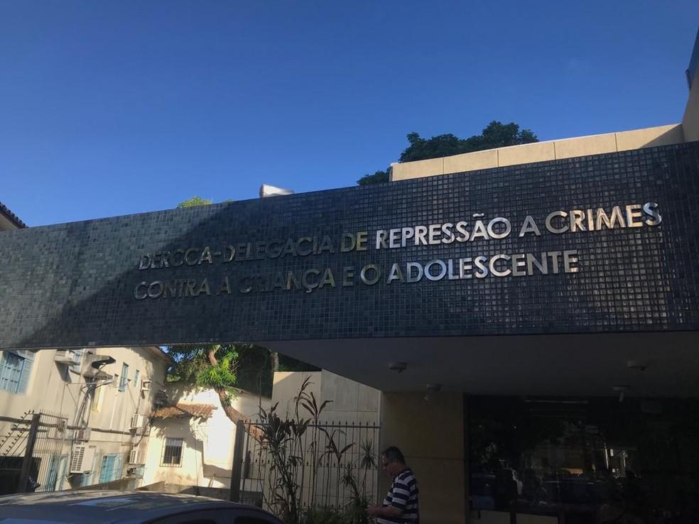Delegacia de Repressão a Crimes Contra a Criança e o Adolescente (Dercca), em Salvador — Foto: Itana Alencar/G1BA