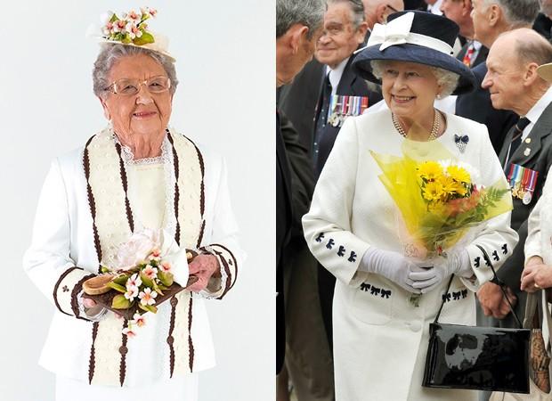 Palmirinha e rainha Elizabeth II (Foto: Estúdio Gastronômico/ Divulgação e Getty Images)