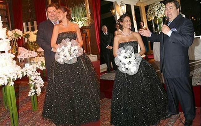 Faustão e Luciana Cardoso no casamento, em 2002 (Foto: Divulgação)