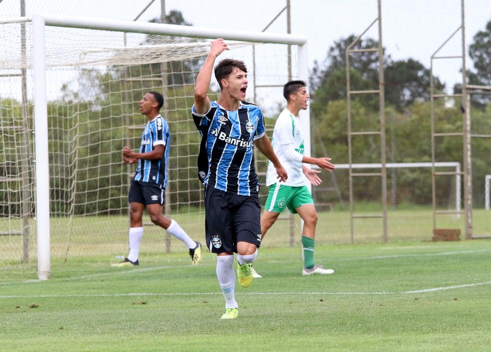 Zinho, do sub-17 do Grêmio — Foto: Rodrigo Fatturi/Grêmio