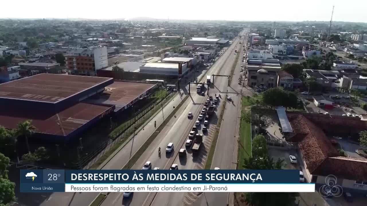 Pessoas foram flagradas em festa clandestina em Ji-Paraná