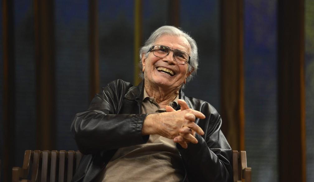 Tarcísio Meira durante participação em programa de TV — Foto: Globo/Divulgação