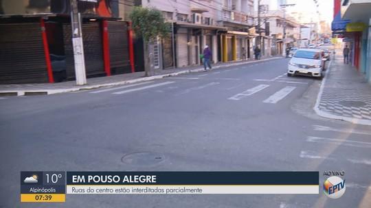 Ruas do Centro de Pouso Alegre são parcialmente interditadas