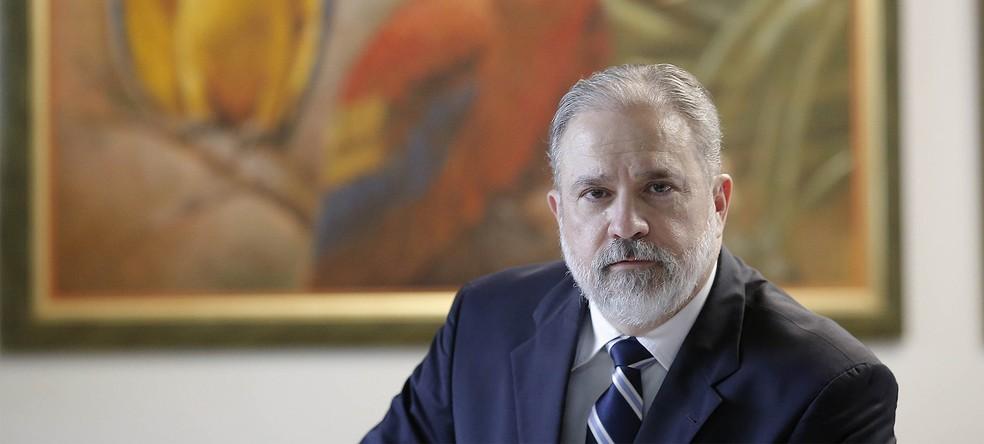 Augusto Aras, indicado por Bolsonaro ao cargo de procurador-geral da República, em foto de maio de 2019 em Brasília — Foto: Dida Sampaio / Estadão Conteúdo / Arquivo