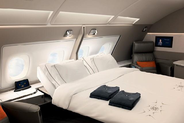 O quarto de primeira classe da Singapore: mais conforto no ar  (Foto: Divulgação)