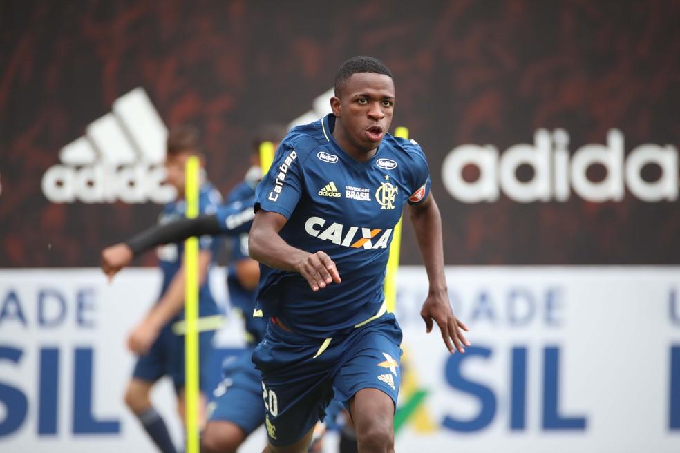 Vinicius Junior foi revelado na base do Flamengo (Foto: Gilvan de Souza/Flamengo)