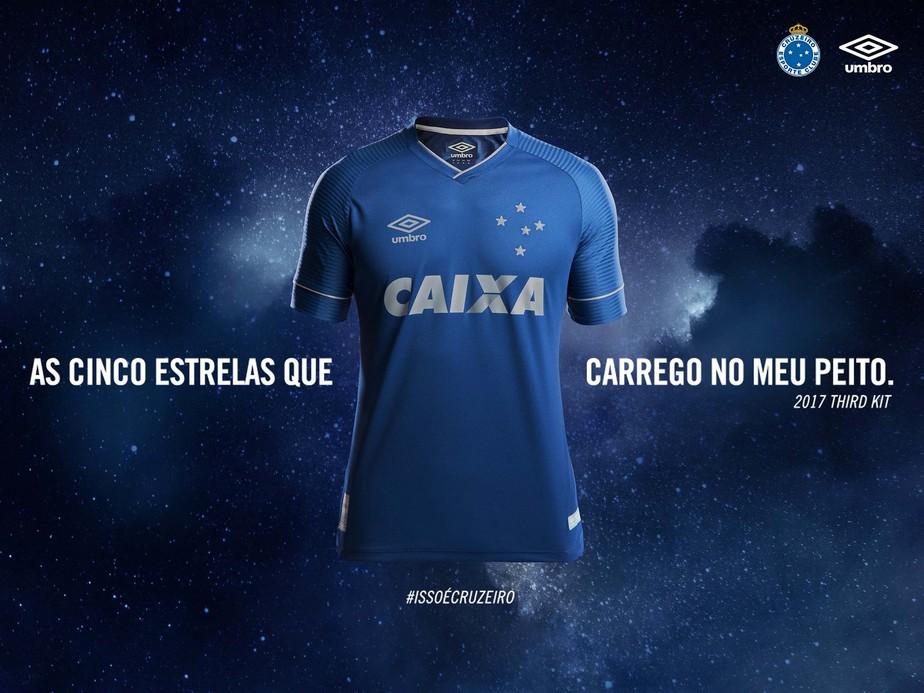 Fim do mistério: fornecedora publica foto da terceira camisa do Cruzeiro