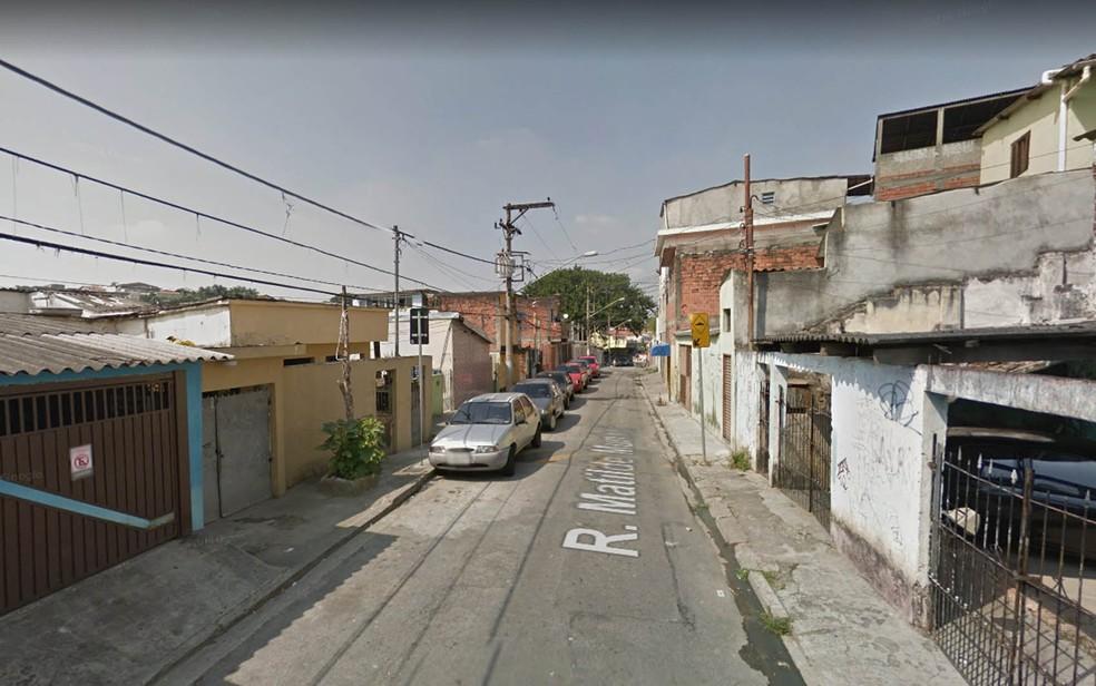 Rua Matilde Munhoz, na Vila Brasilândia, Zona Norte de São Paulo (Foto: Reprodução/Google StreetView)