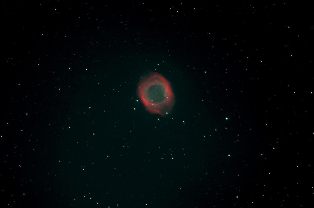 Nebulosa Helix, Monoceros, vista no céu de Brasília — Foto: Ronald Piacenti Junior/Arquivo pessoal