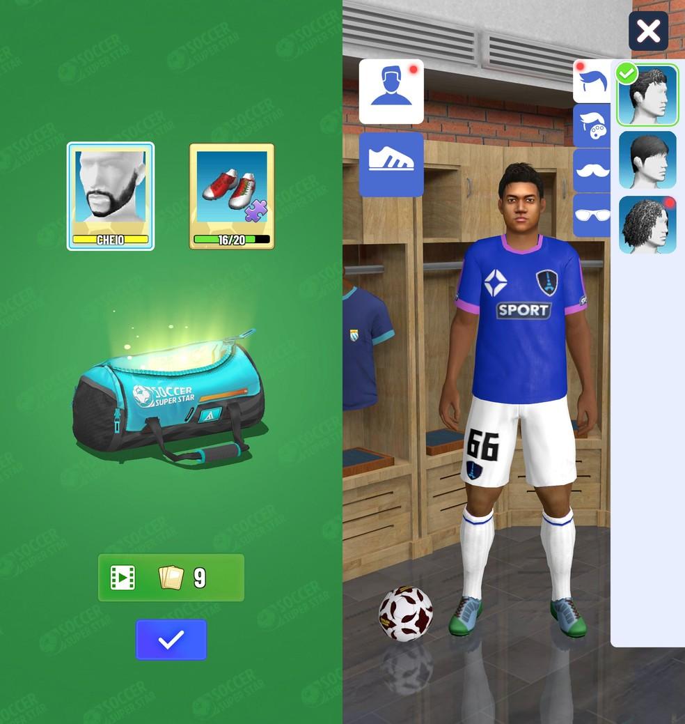É possível liberar itens de customização para personalizar a aparência do jogador — Foto: Reprodução/Filipe Garrett