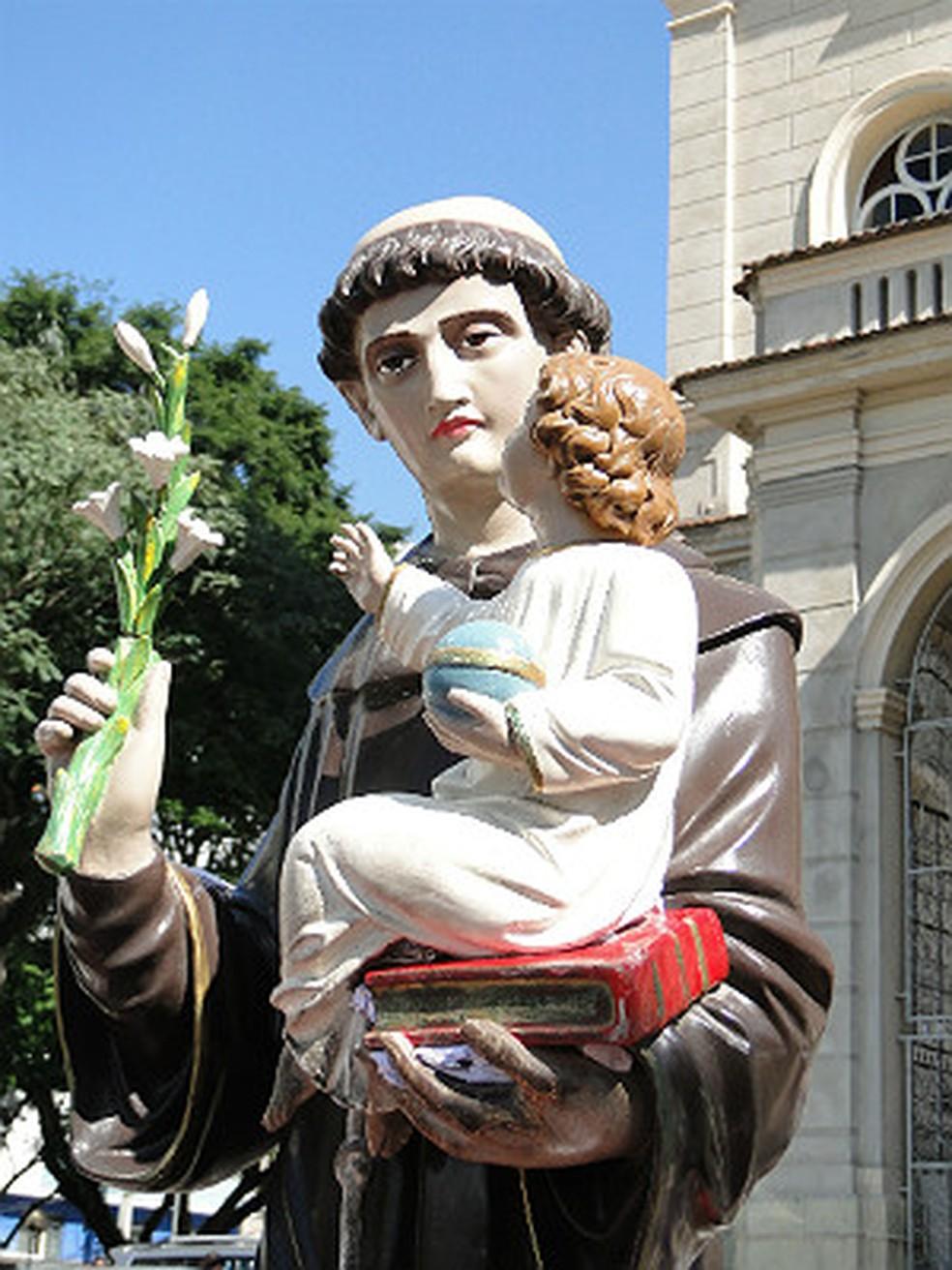 -  Imagem de Santo Antônio em Juiz de Fora  Foto: Assessoria de Comunicação Catedral JF/ Divulgação