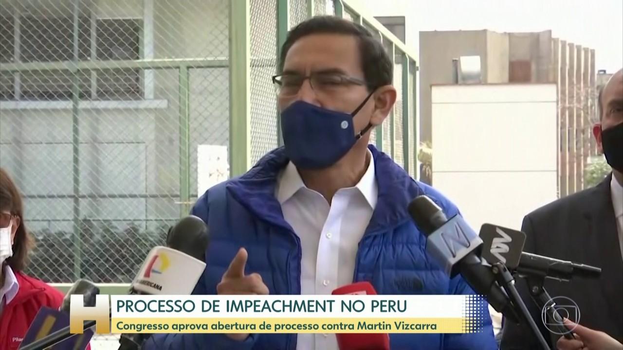 Congresso do Peru aprova abertura de processo de impeachment contra Martin Vizcarra