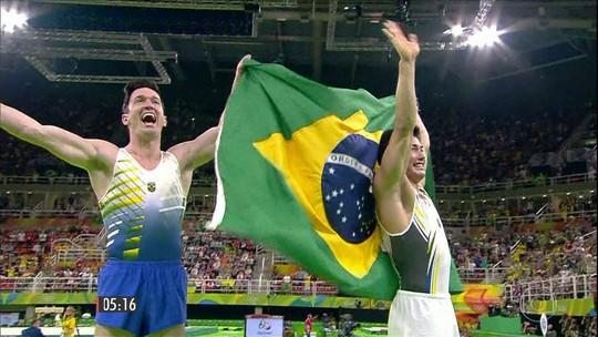 Diego Hypólito e Arthur Nory conquistam medalhas na Ginástica