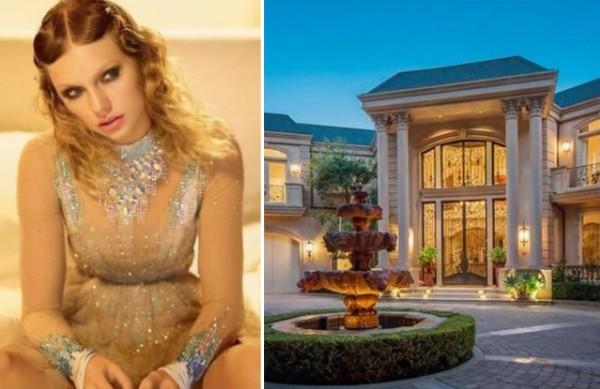 A cantora Taylor Swift e sua mansão em Beverly Hills (Foto: Instagram/Divulgação)