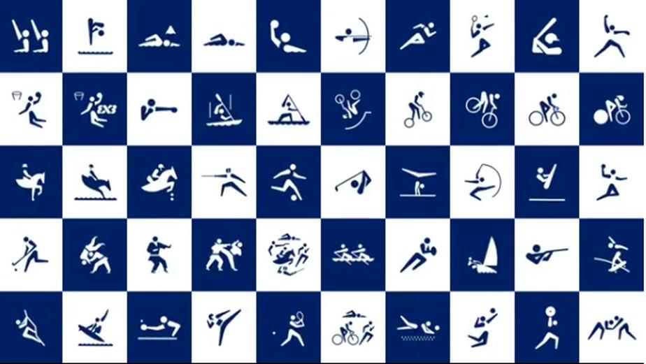 A 500 dias dos Jogos Olímpicos, Tóquio apresenta os pictogramas das modalidades