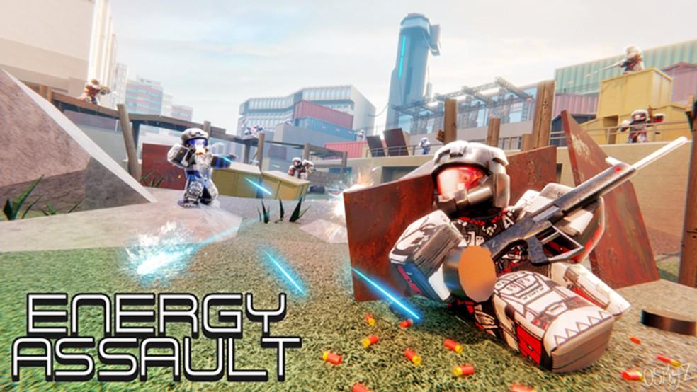 Energy Assault é um FPS divertido e bem completo para se jogar online no Roblox — Foto: Reprodução/Roblox