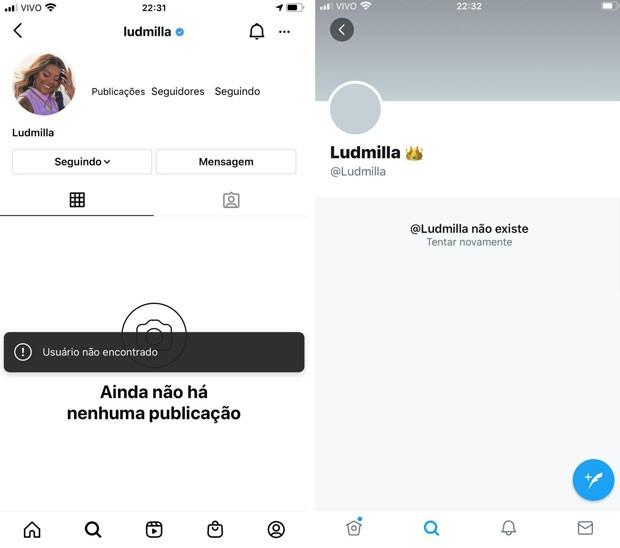 Ludmilla deleta suas contas de Instagram e Twitter (Foto: Reprodução)