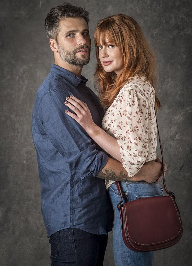 Bruno Gagliasso e Marina Ruy Barbosa são os protagonistas de O Sétimo Guardião (Foto: João Cotta/Globo)