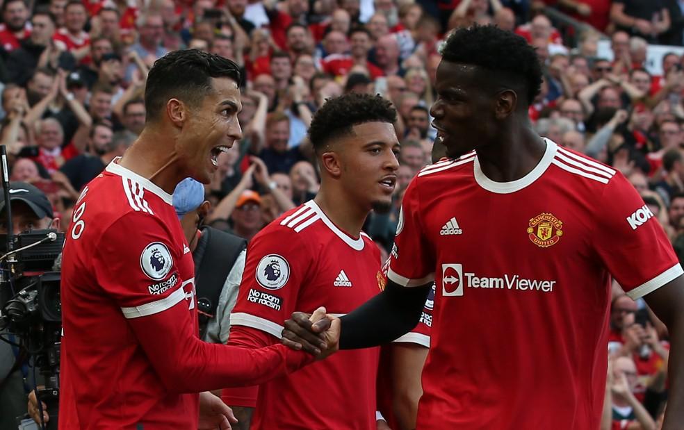 Cristiano Ronaldo chegou ao Manchester United brilhando com dois gols — Foto: Getty Images