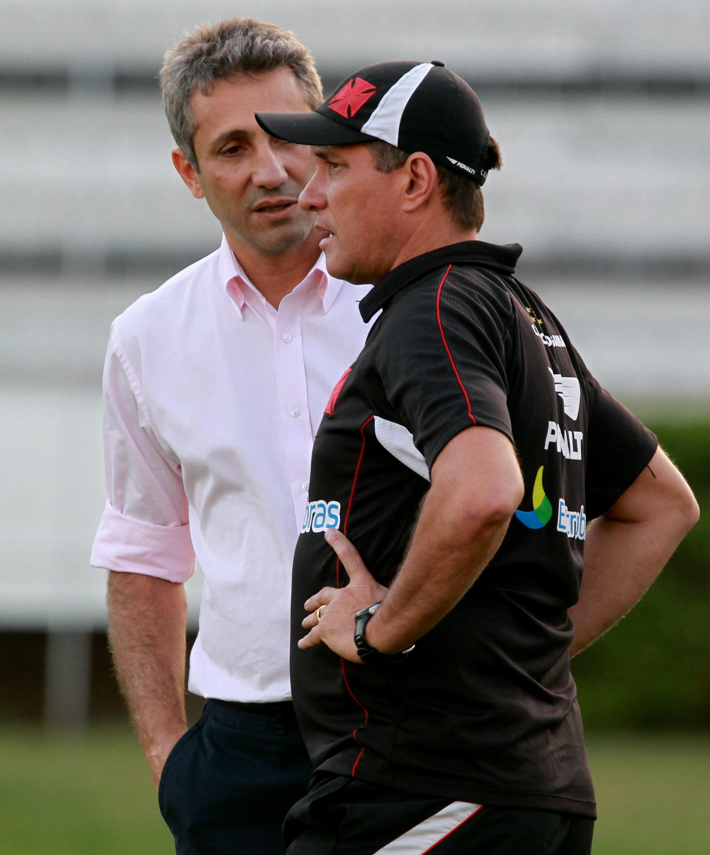 Alexandre Campello e PC Gusmão, ex-técnico do Vasco