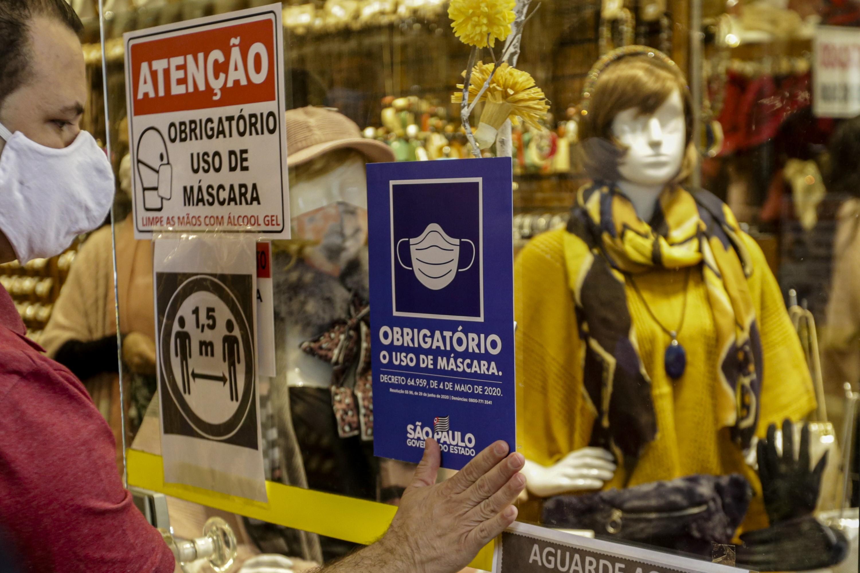 Multa para quem desrespeita uso obrigatório de máscara passa a valer nesta quinta no estado de São Paulo